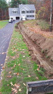 trench dug for wire