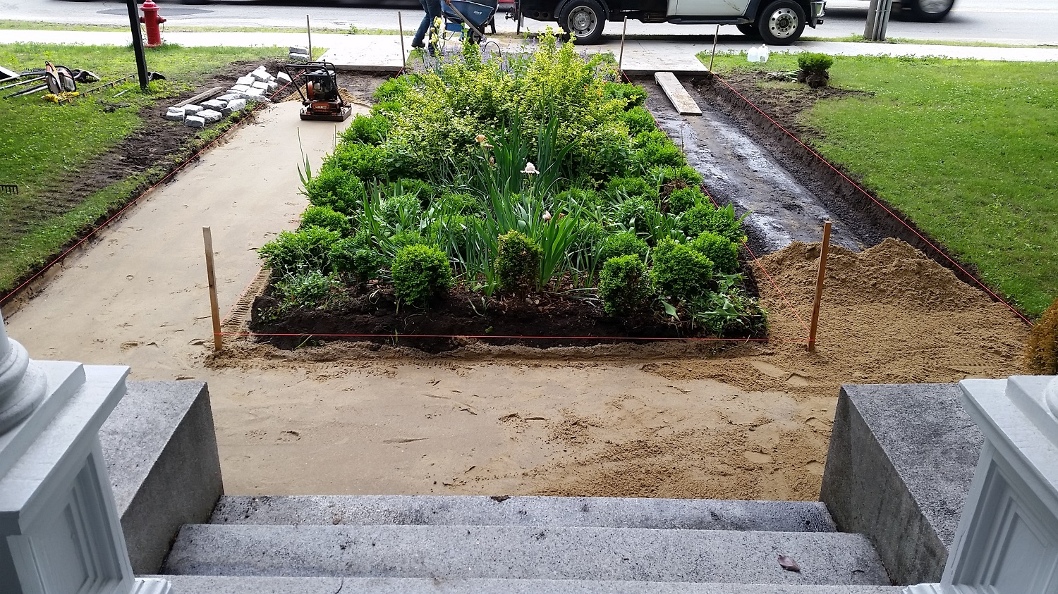 Paver Walkway Project in Mass.